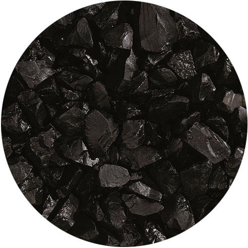 Granulati di pietra naturale nero ebano di Granulati Zandobbio